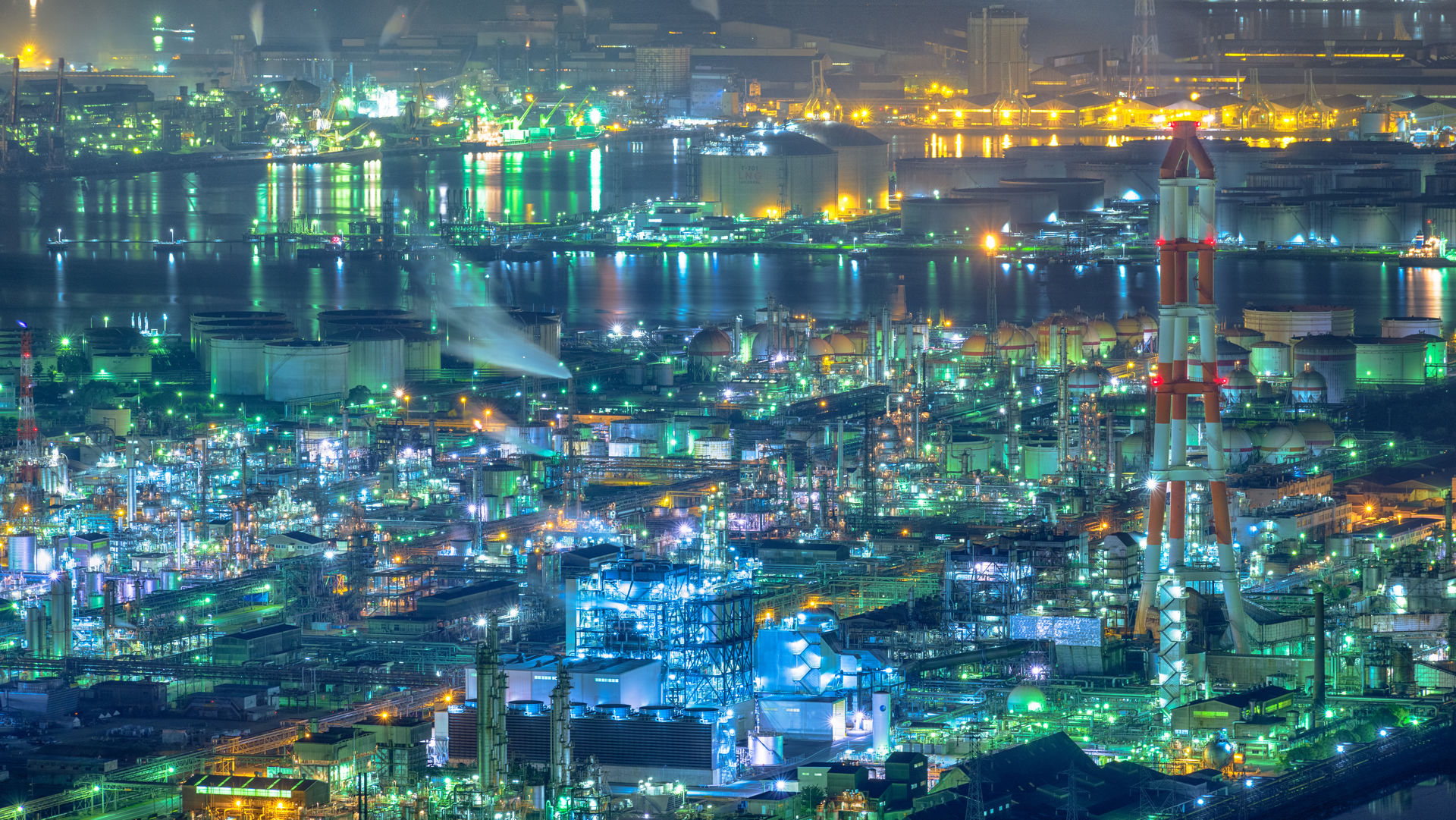 Learn More About Night View Of The Industrial Plant In Mizushima